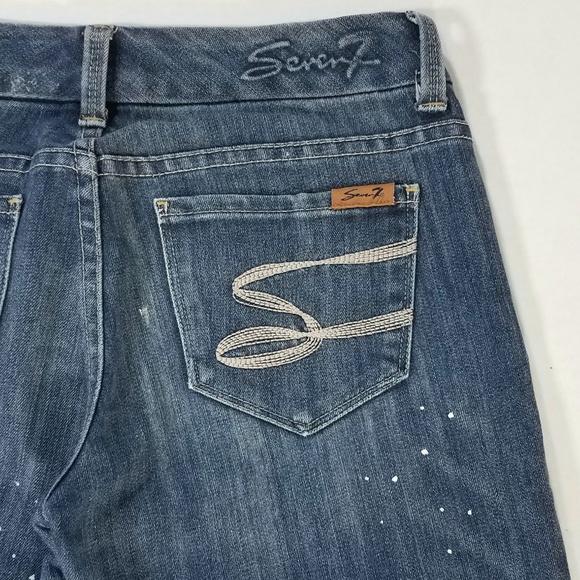 Seven7 Denim - Seven7 Bootcut Paint Splatter Jeans Size 27